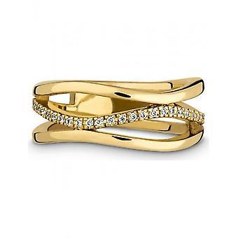 QUINN - Ring - Damer - Gult Guld 585 - Top W. (G)si. - Bredde 56 - 5216006