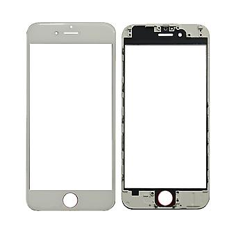White Top Glass & Frame For iPhone 6 | iParts4u