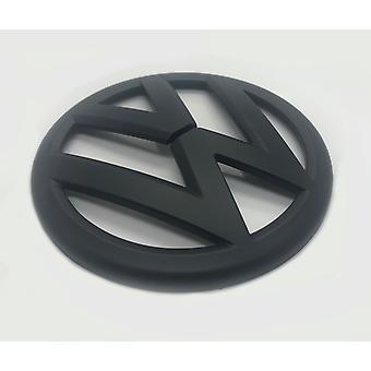 Matt Black VW Volkswagen Polo 6R Front Grill Bonnet Badge Emblem GTI TDI TSI R - 2009-2013