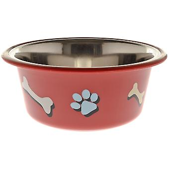 Ferribiella Bowl Paw And Bone 0,40 Lt 13Cm (Dogs , Bowls, Feeders & Water Dispensers)