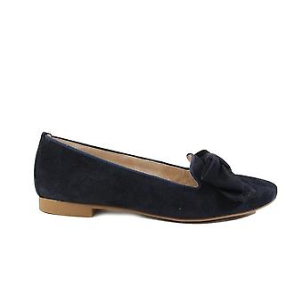 Paul Green 2592-01 Navy Suede Leather Womens Slip On Shoes