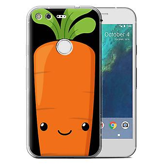 STUFF4 Gel TPU Case/Cover for Google Pixel (5.0'')/Carrot/Kawaii Food