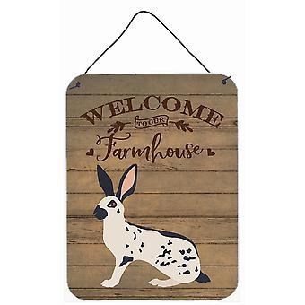 English Spot Rabbit Welcome Wall or Door Hanging Prints