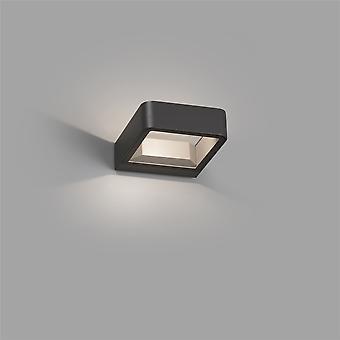 Faro Axel - LED all'aperto Grigio scuro su parete chiaro 5W 3000K IP65 - FARO71273