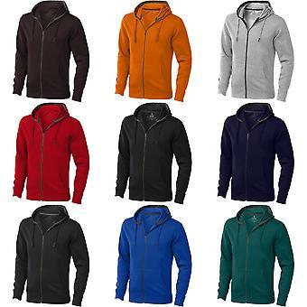 Elevate Mens Arora Hooded Full Zip Sweater