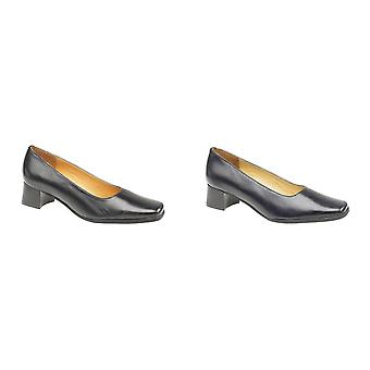 Amblers Walford Ladies Leather Court / Womens Shoes / Court Ladies Shoes
