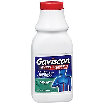 Gaviscon extra strength liquid antacid, cool mint flavor, 12 oz