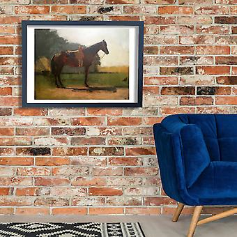 Winslow Homer - Saddle Horse in Farm Yard Poster Print Giclee