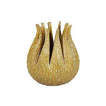 Vase Céramique Jaune 16 cm
