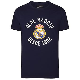 Real Madrid Official Football Gift Mens Graphic T-Shirt