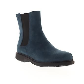 Camper Neuman  Womens Blue Nubuck Leather Slip On Chelsea Boots