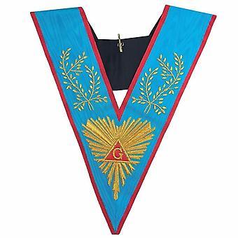 Masonic officer-apos;s collier memphis misraim worshipful passé main de maître emroidered