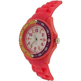Citron Analogue Boys-Girls White Dial Rotating Bezel Silicone Strap Watch KID119