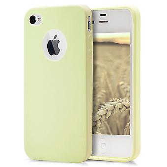 Shell pour Apple iPhone 4/4s Champagne (Jaune) TPU Protection Case