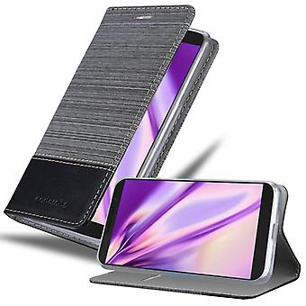 Cadorabo tapauksessa Alcatel 3L 2019 tapauksessa tapauksessa kattaa - matkapuhelin tapauksessa magneettinen lukko, seistä toiminto ja korttiosasto - Case Cover Suojakotelo Tapauksessa Laukku Kirja Folding Style