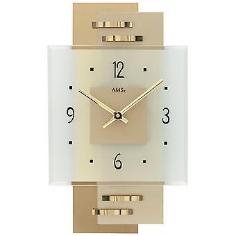 Wall clock kvartsi analoginen moderni AMS 9241 messinki sovelluksen