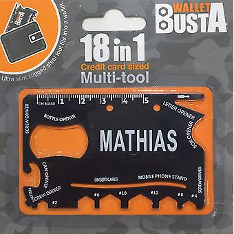 Multitool Multitool MATHIAS Kreditkarten-Debitkarte