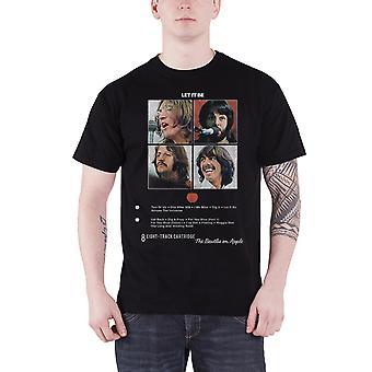 Il brano dei Beatles T Shirt Let It essere 8 nuovo ufficiale Mens nero