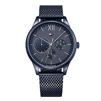 Tommy Hilfiger Watches 1791421 Damon Blue Mesh Men's Watch