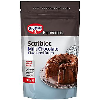 3kg Dr Oetker Milk Chocolate Choc Chip Drops Baking Cup Cakes Biscuits Muffins