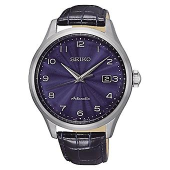 Seiko analogue watch automatic men's watch with leather SRPC21K1