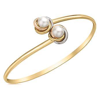 Brazalete Flexible KJ Beckett nudo y perla - oro/plata/oro
