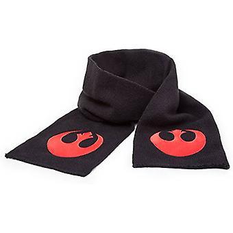 Official Star Wars Black Scarf With Red Rebel Alliance Fleece Logo