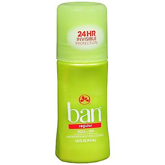 Ban roll-on antiperspirant & deodorant, regular, 1.5 oz