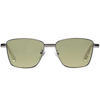 Le Specs Supastar Brushed Silver Sunglasses
