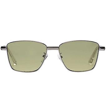 Le Specs Supastar Brushed Silver Sunglasses