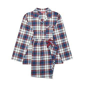 Minijammies 6306 Boy's Austin Burgundy rode Check katoenen pyjama pyjama's instellen