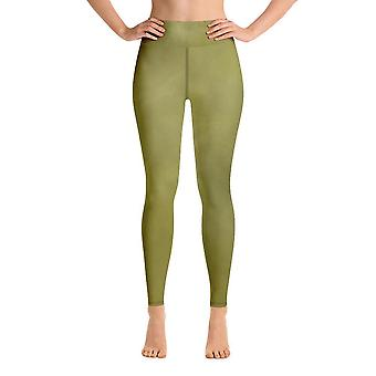 Leggings de treino | Leggings de Yoga | Aquarela | #3 verde