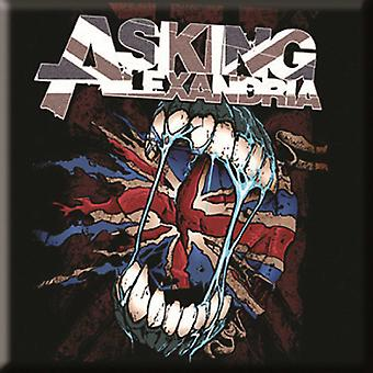 Asking Alexandria Fridge Magnet Flag Eater band logo new Official 76mm x 76mm