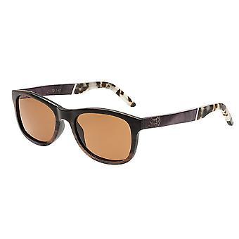 Earth Wood El Nido Polarized Sunglasses - Ebony/Brown