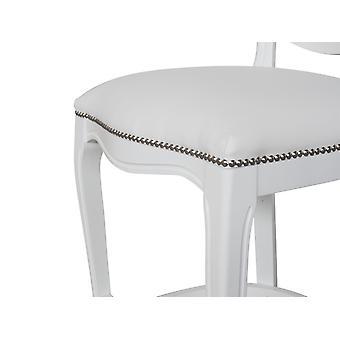Sedia Era Colore Bianco in Legno Di Faggio, L50xP50xA110 cm