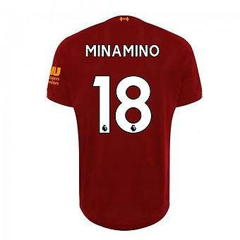 2019-2020 Liverpool Home Football Shirt (Minamino 18)