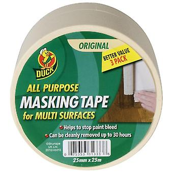 Duck All Purpose Masking Tape (Pack Of 3)