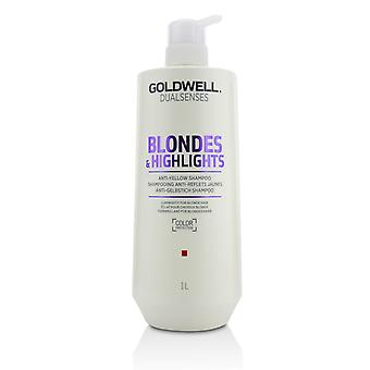 Dual senses blonds & highlights anti gele shampoo (helderheid voor blond haar) 215427 1000ml/33.8oz