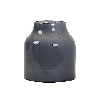 Light & Living Vase 24x25cm Sonala Glass Stone Finish Grey