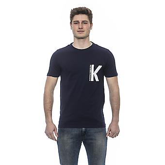 Karl Lagerfeld Miesten sininen lyhythihainen t-paita