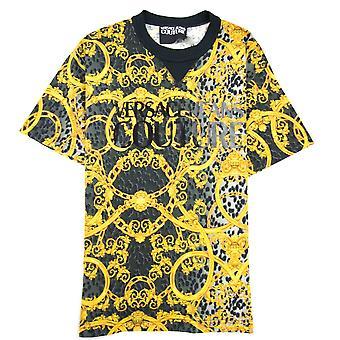 Versace Jeans Couture Leo Chaîne Imprimé Tshirt Noir/gris