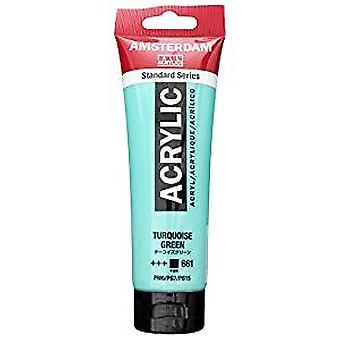 Amsterdam Acrylic Colour 120ml tube TURQUOISE GREEN.