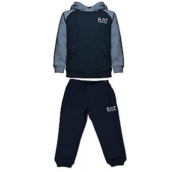 EA7 Boys EA7 Boy's Navy Hooded Tracksuit