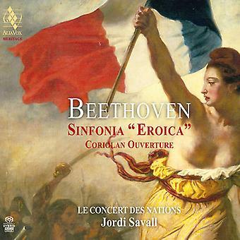 Beethoven / Savall, Jordi - Symphony No.3 - Coriolan Overture [SACD] USA import