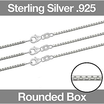 Sterling Silver ROUND BOX Ketting ketting 16