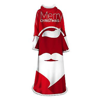 YANGFAN Christmas 3D Digital Printed Lazy Blanket With Sleeves