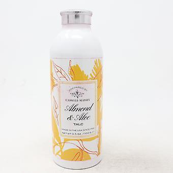 Caswell-Massey Almond & Aloe Talc  3.5oz/100g New