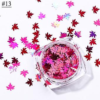 Chameleon Stickers For Nails Autumn Design Decor - Holographic Glitter Flakes Palette