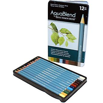 Spectrum Noir Spectrum Aquablend Watercolour Pencils Earth Tones (12pc) (SPECAB-EARTH12)