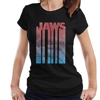 Jaws Shark Shadow Text Women's T-Shirt